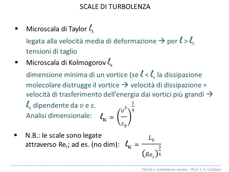 Microscala di Taylor lλ