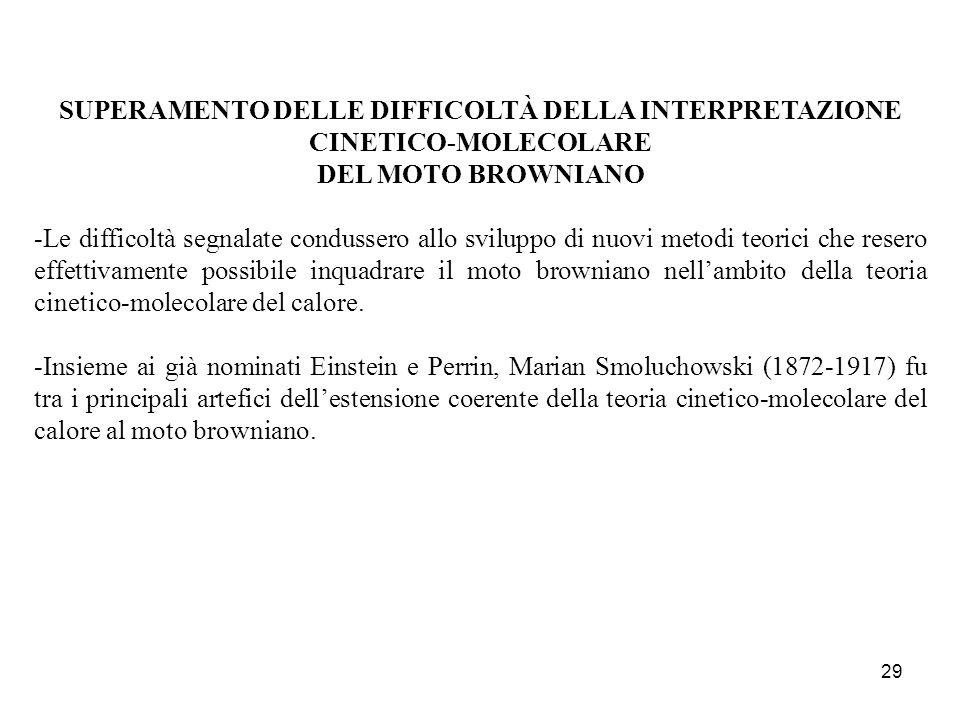 SUPERAMENTO DELLE DIFFICOLTÀ DELLA INTERPRETAZIONE CINETICO-MOLECOLARE