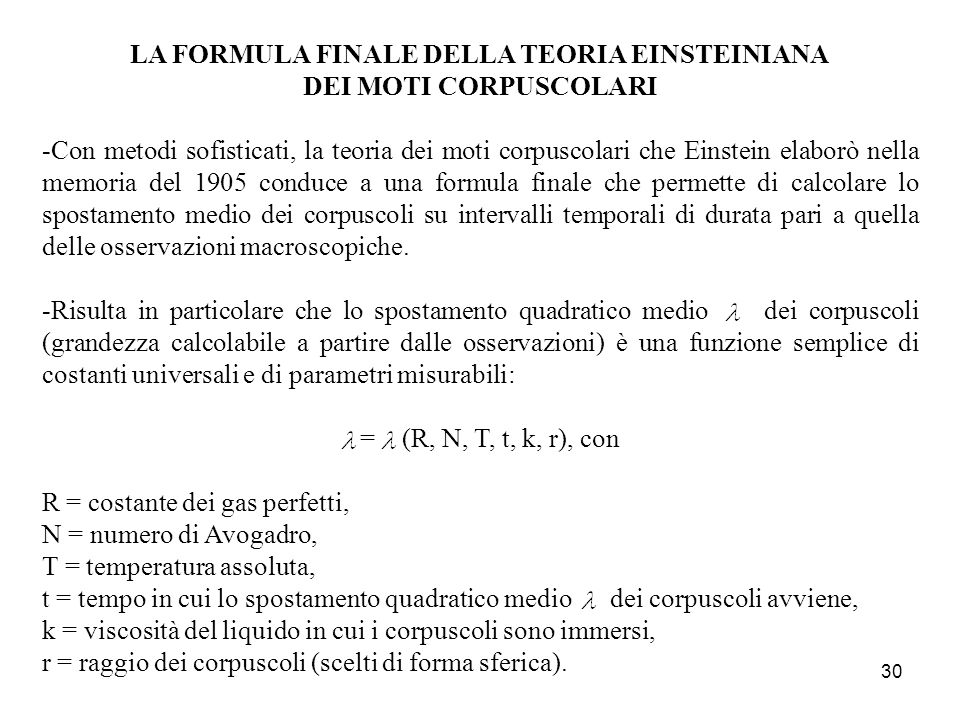 LA FORMULA FINALE DELLA TEORIA EINSTEINIANA