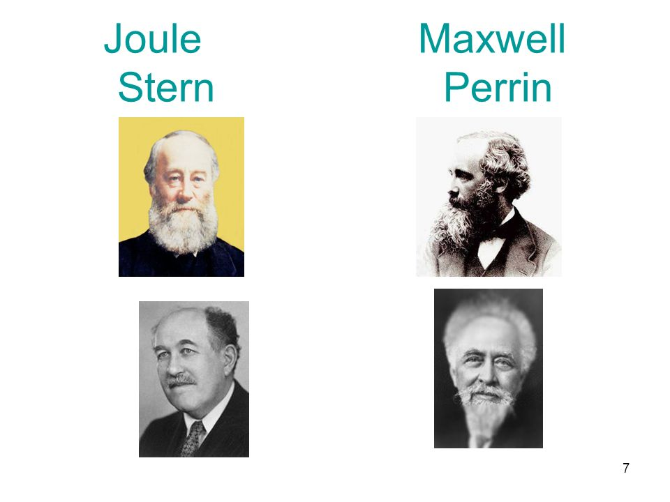 Joule Maxwell Stern Perrin