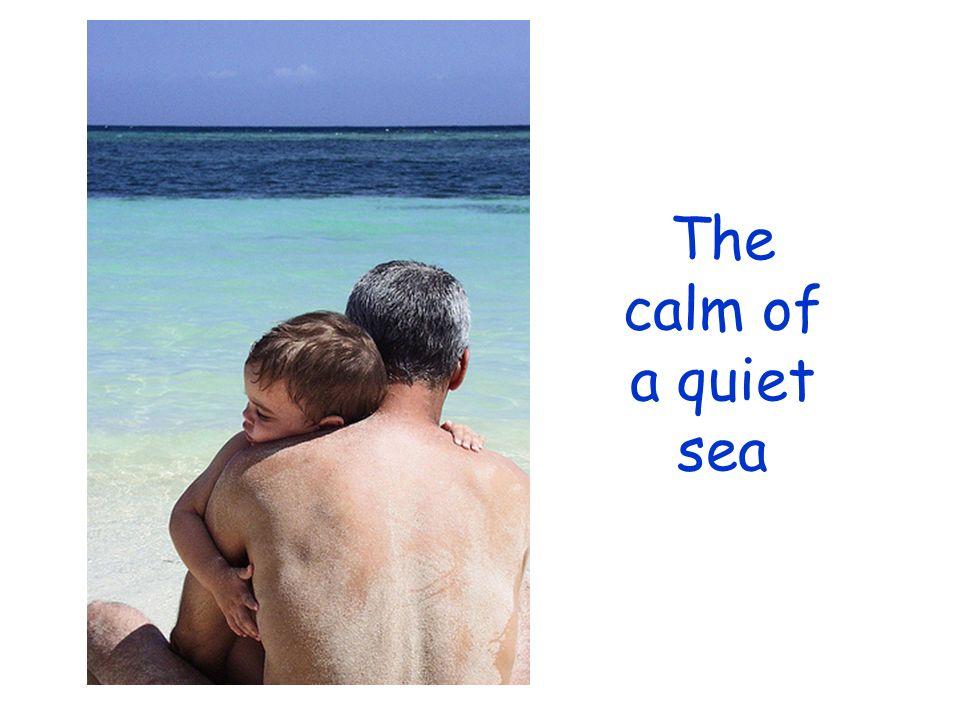 The calm of a quiet sea