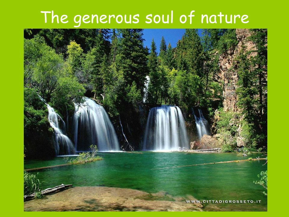 The generous soul of nature