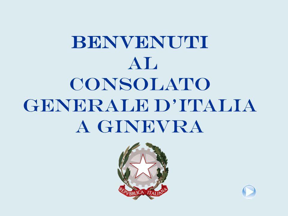 BENVENUTI AL Consolato Generale d'Italia a Ginevra