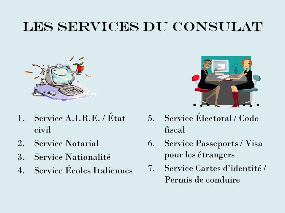 Les services du consulat