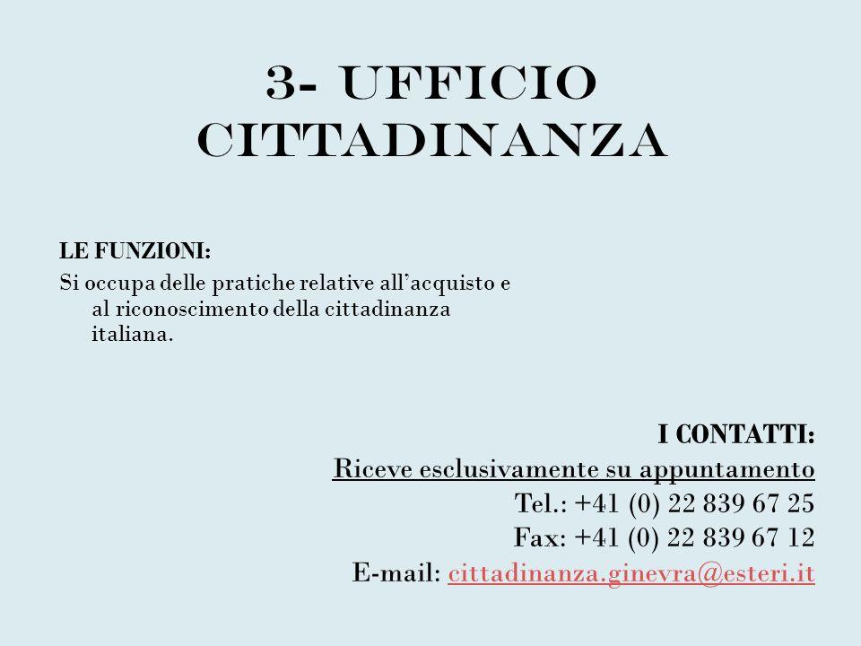 3- UFFICIO CITTADINANZA