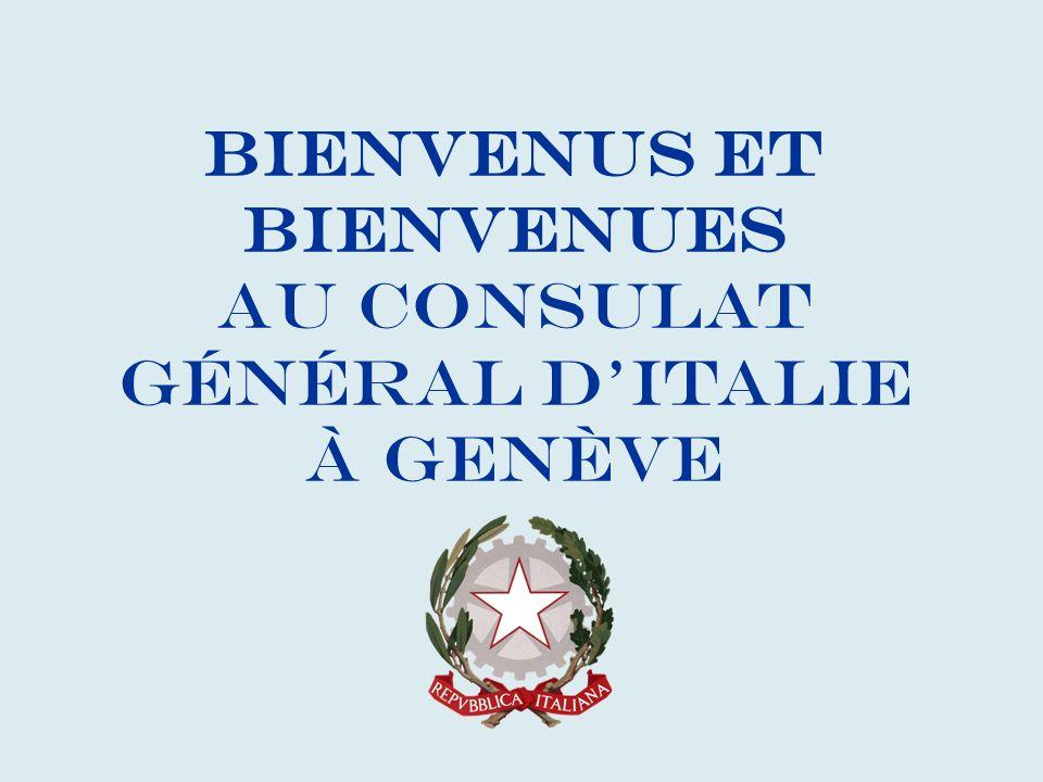 Bienvenus et bienvenues au Consulat Général d'Italie à Genève