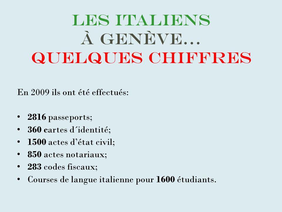Les italiens à Genève… quelques chiffres