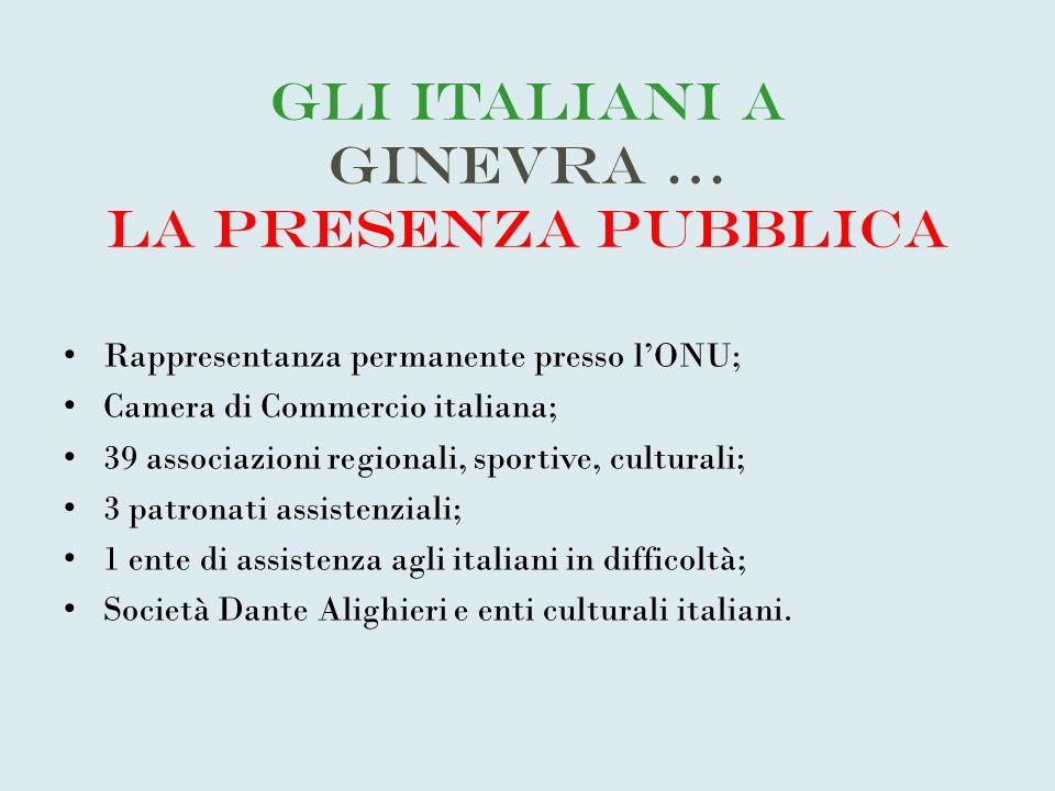 Gli Italiani a Ginevra … la presenza pubblica