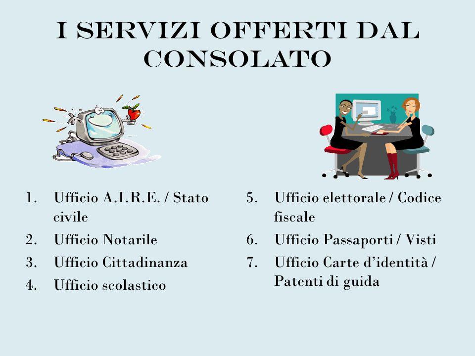 I servizi offerti dal Consolato