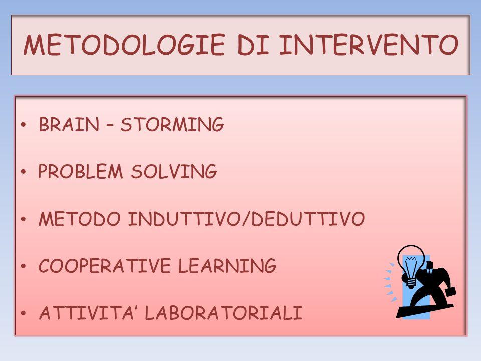 METODOLOGIE DI INTERVENTO