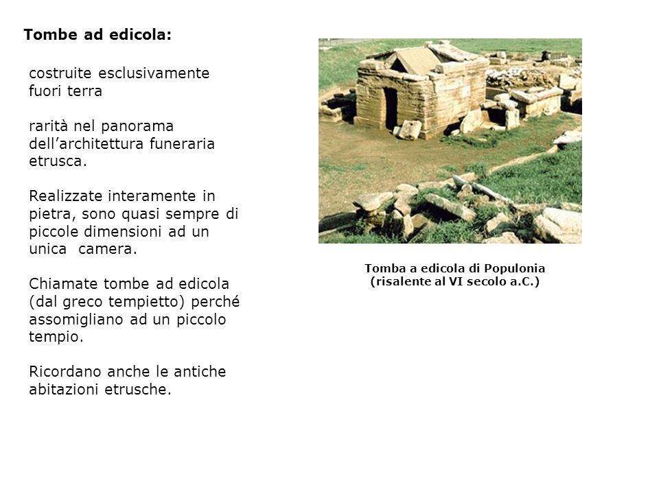 Tomba a edicola di Populonia (risalente al VI secolo a.C.)