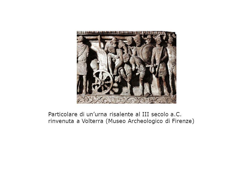 Particolare di un'urna risalente al III secolo a. C