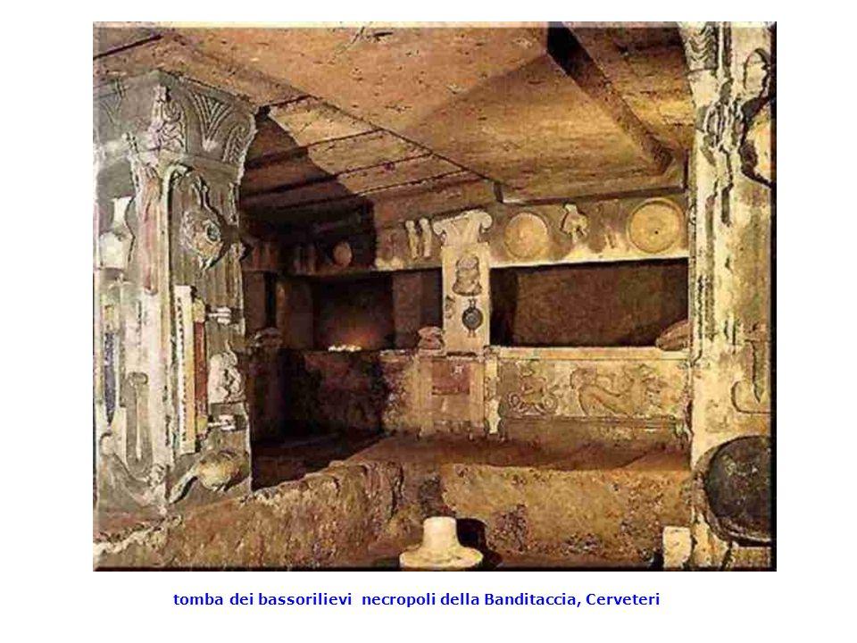 tomba dei bassorilievi necropoli della Banditaccia, Cerveteri
