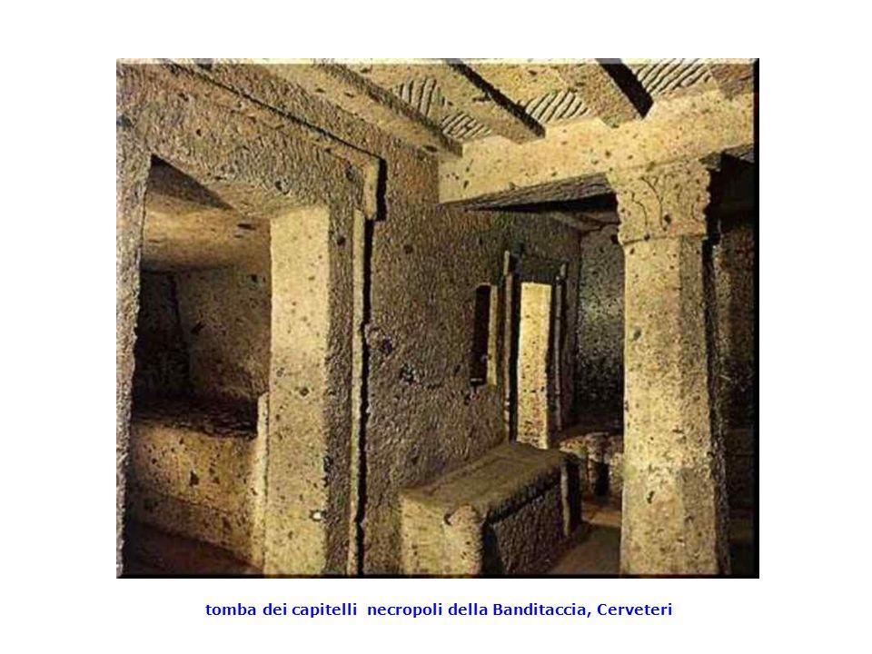 tomba dei capitelli necropoli della Banditaccia, Cerveteri