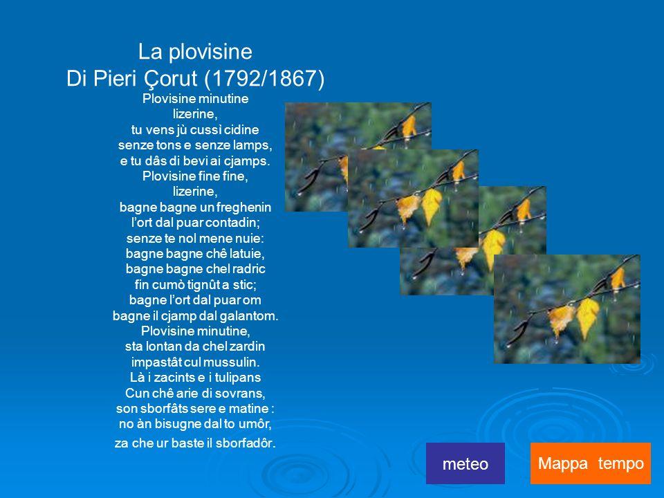 La plovisine Di Pieri Çorut (1792/1867) meteo Mappa tempo