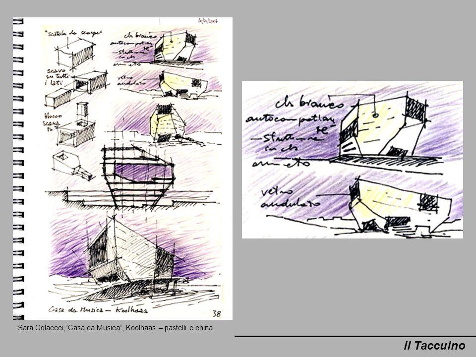 Sara Colaceci, Casa da Musica , Koolhaas – pastelli e china