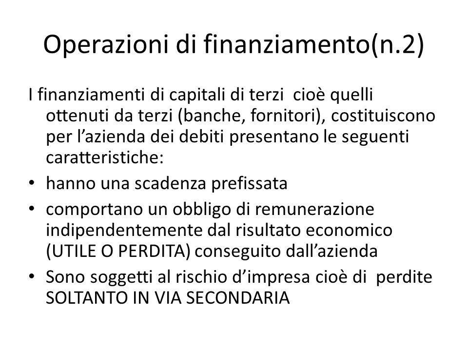 Operazioni di finanziamento(n.2)