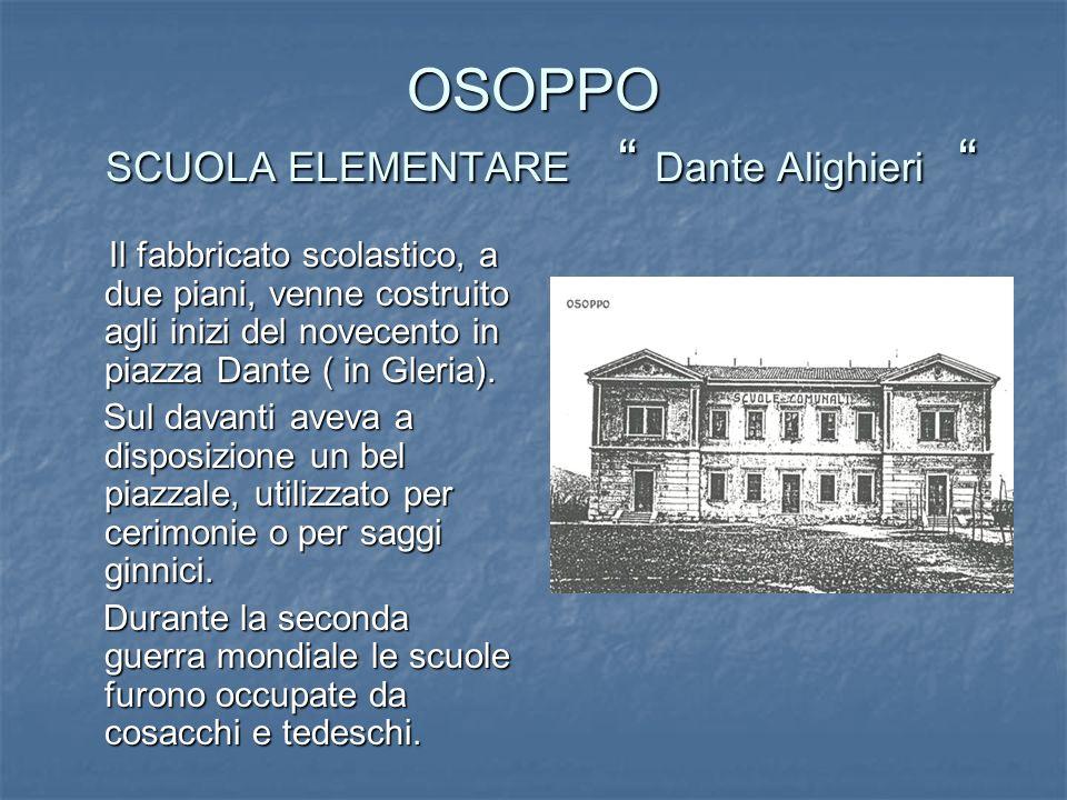 OSOPPO SCUOLA ELEMENTARE Dante Alighieri