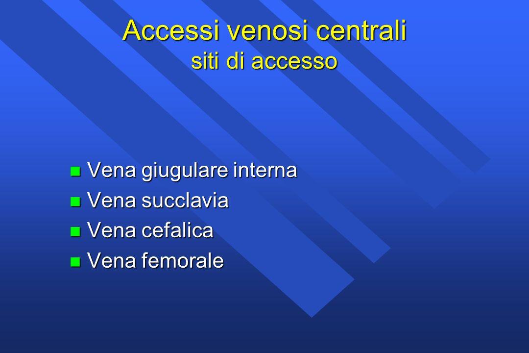 Accessi venosi centrali siti di accesso
