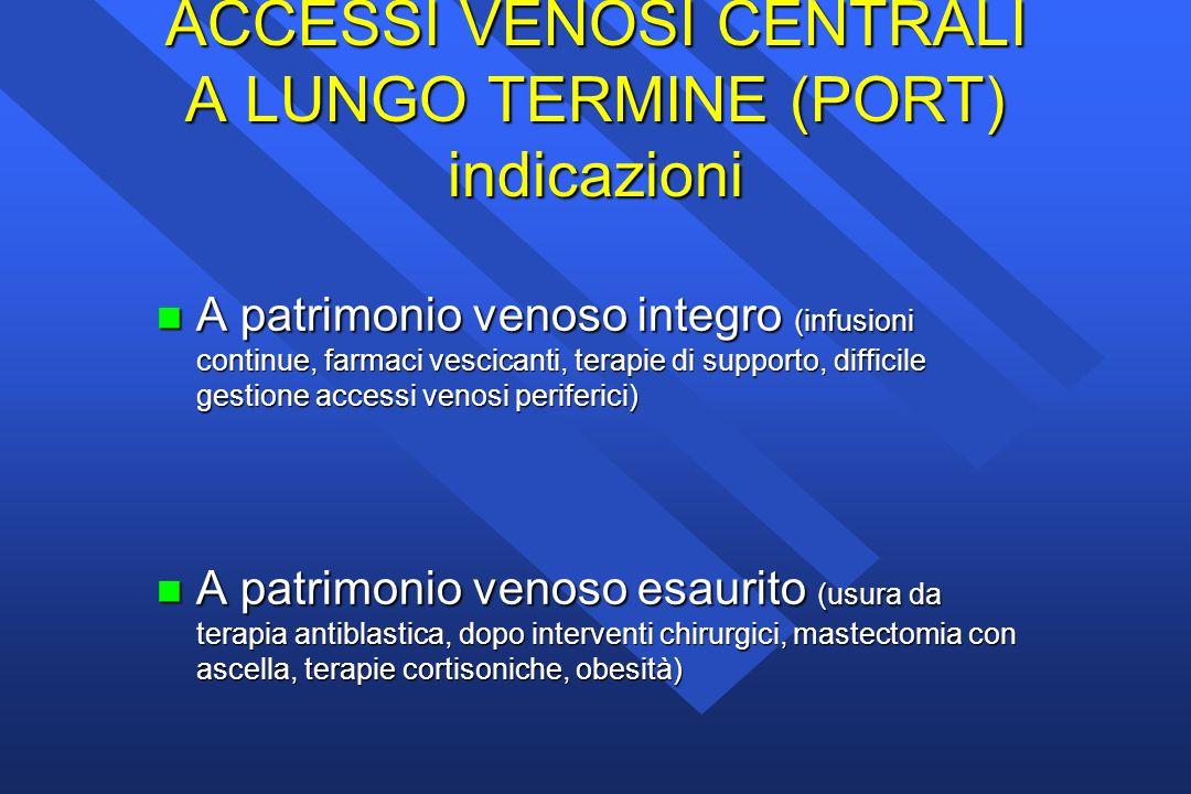 ACCESSI VENOSI CENTRALI A LUNGO TERMINE (PORT) indicazioni