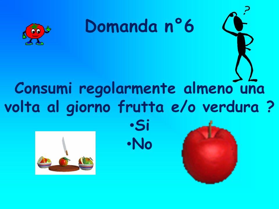 Consumi regolarmente almeno una volta al giorno frutta e/o verdura