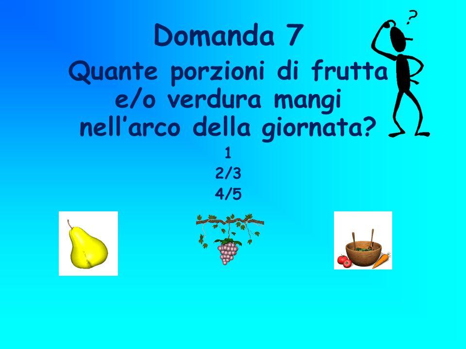 Quante porzioni di frutta e/o verdura mangi nell'arco della giornata