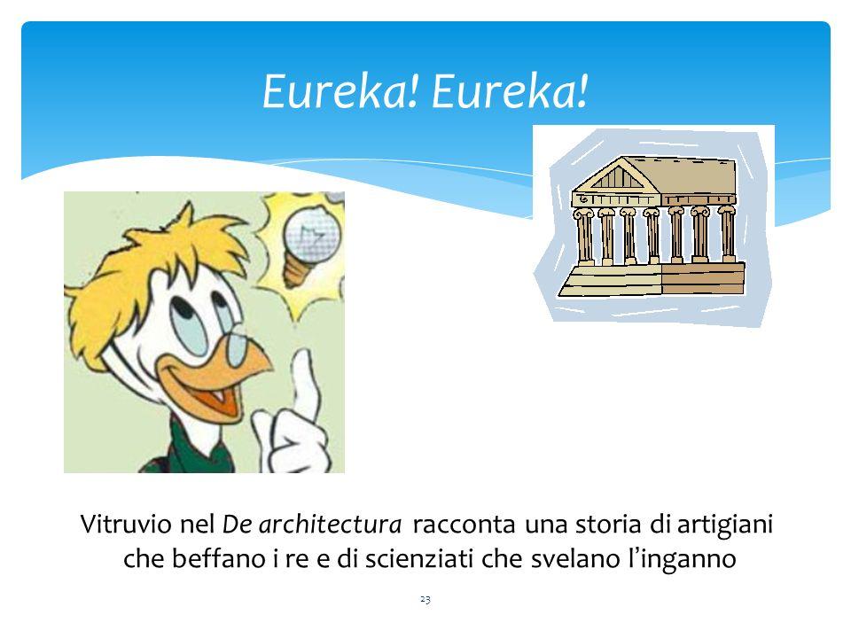 Eureka. Eureka. Vitruvio nel De architectura racconta una storia di artigiani.