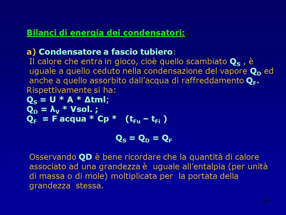 Bilanci di energia dei condensatori: