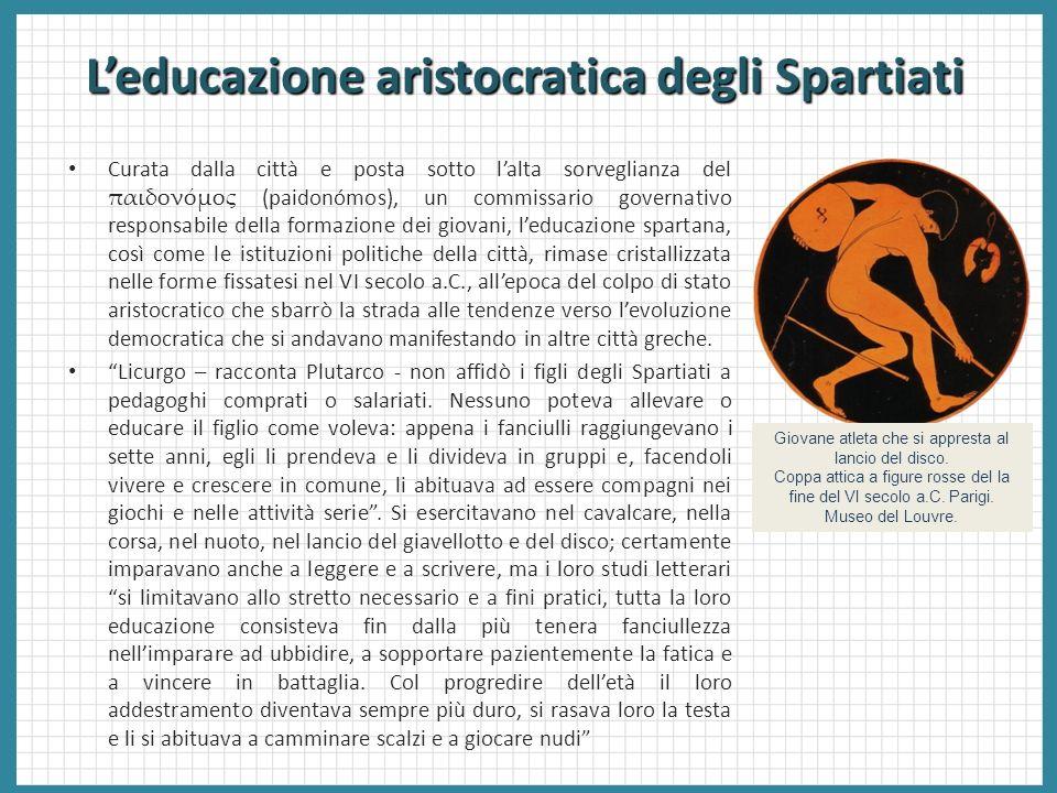 L'educazione aristocratica degli Spartiati