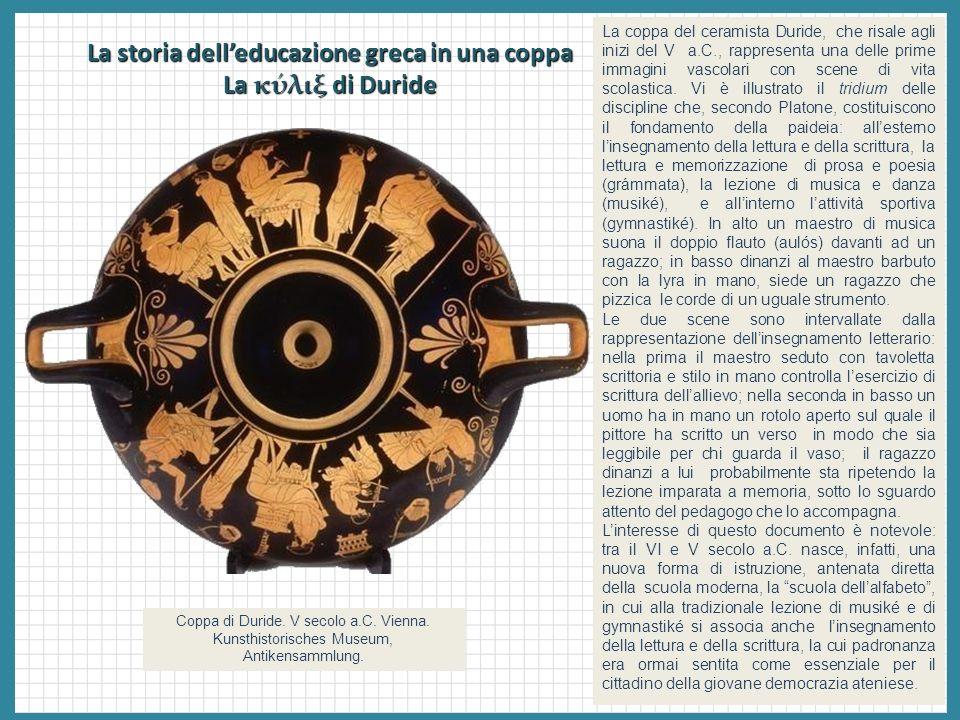 La storia dell'educazione greca in una coppa La κύλιξ di Duride