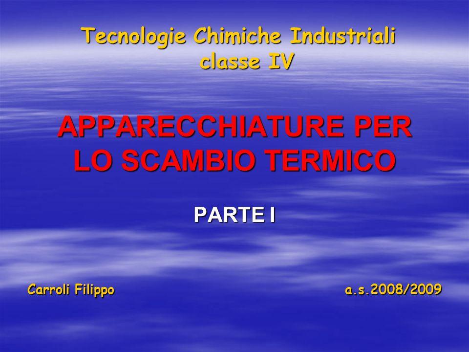 APPARECCHIATURE PER LO SCAMBIO TERMICO