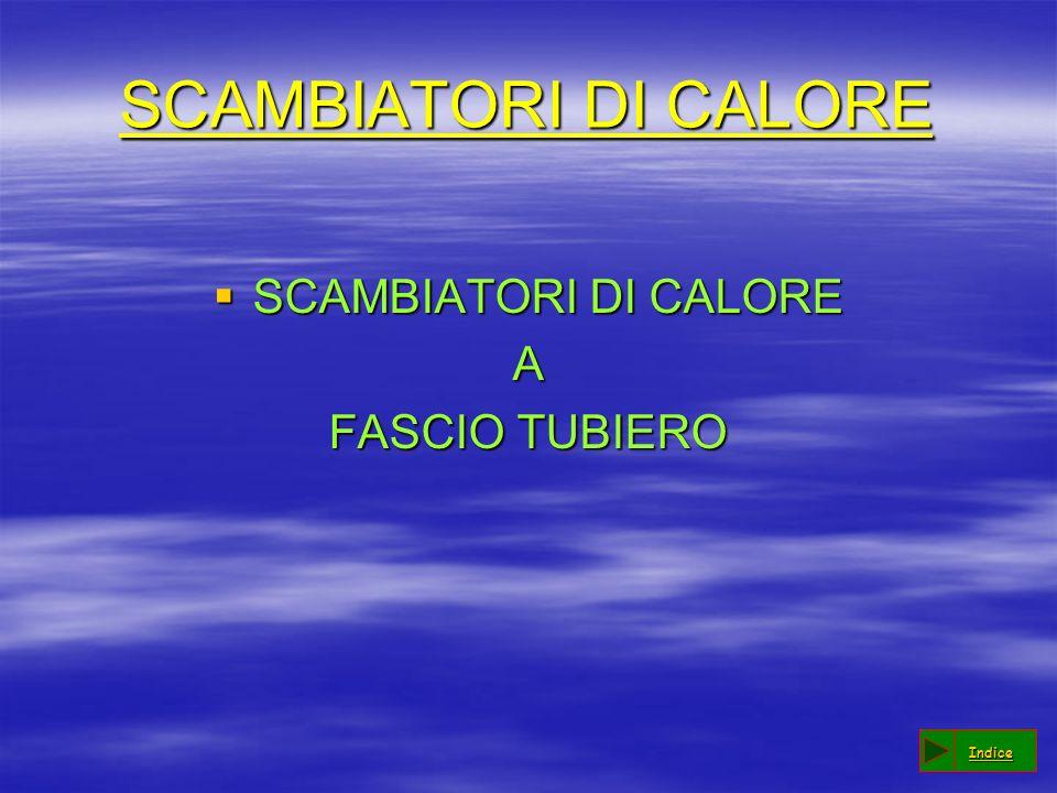 SCAMBIATORI DI CALORE SCAMBIATORI DI CALORE A FASCIO TUBIERO Indice