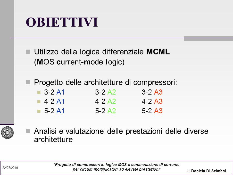 OBIETTIVI Utilizzo della logica differenziale MCML