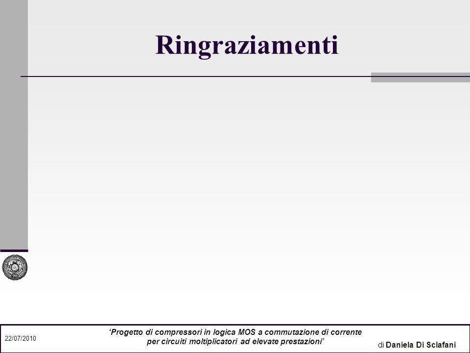 Ringraziamenti Relatore: Prof. Ing. Giuseppe Caruso