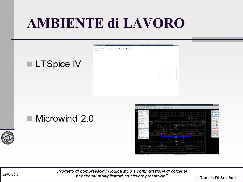 AMBIENTE di LAVORO LTSpice IV Microwind 2.0