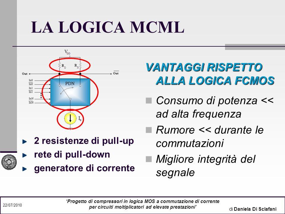 LA LOGICA MCML VANTAGGI RISPETTO ALLA LOGICA FCMOS