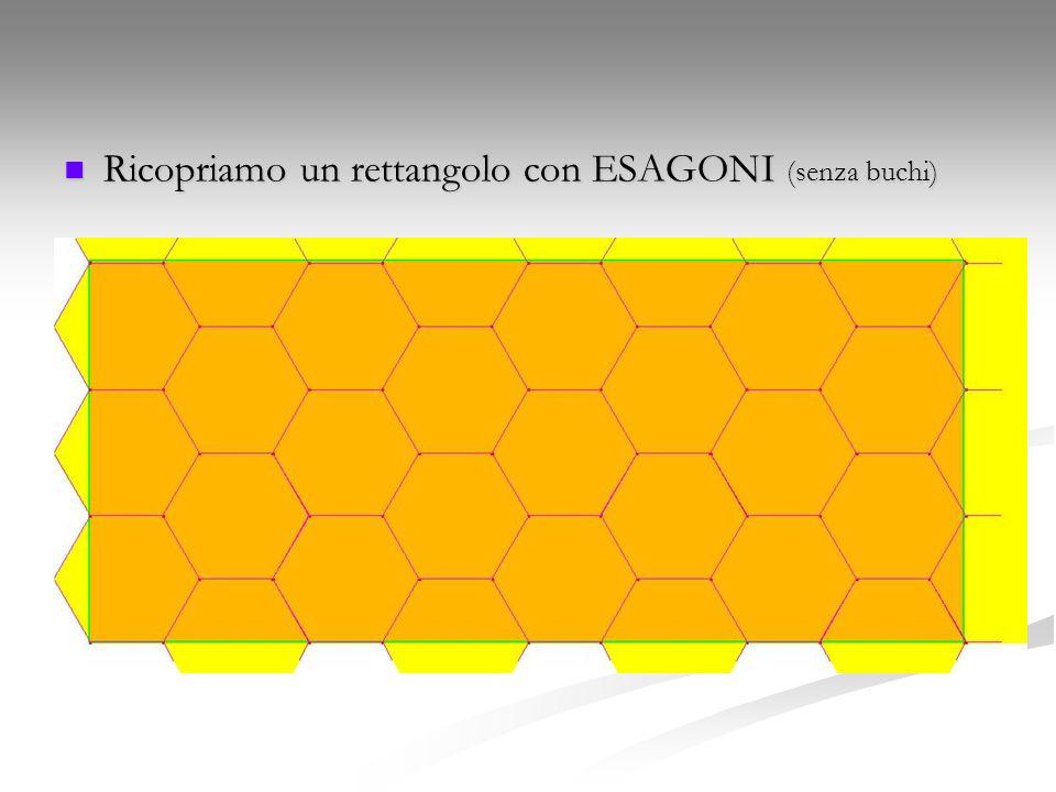 Ricopriamo un rettangolo con ESAGONI (senza buchi)