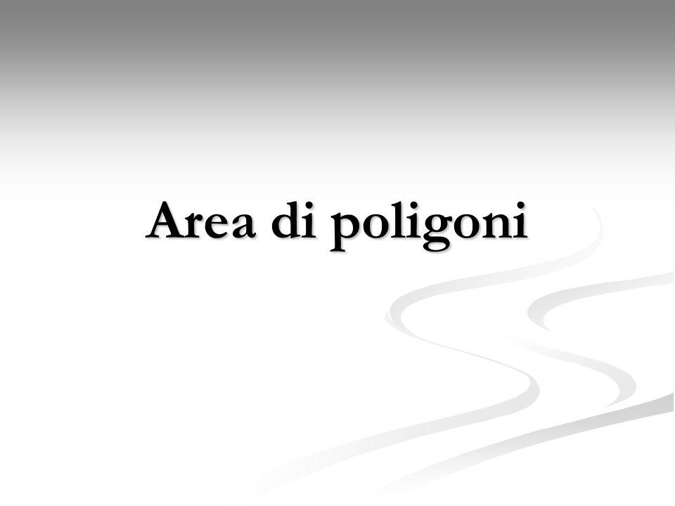 Area di poligoni