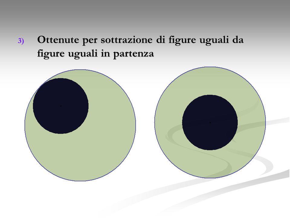 Ottenute per sottrazione di figure uguali da figure uguali in partenza