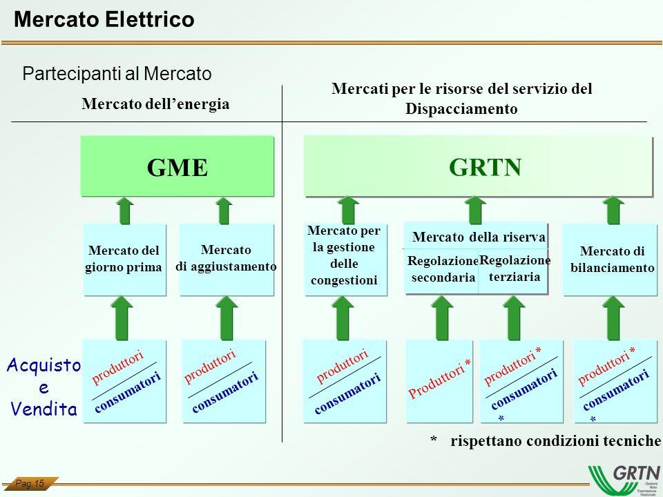 GME GRTN Mercato Elettrico Partecipanti al Mercato Acquisto e Vendita