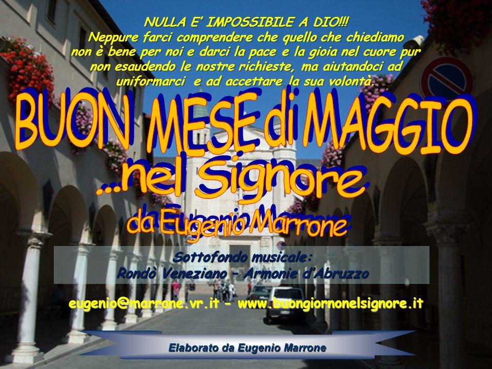 BUON MESE di MAGGIO ...nel Signore da Eugenio Marrone