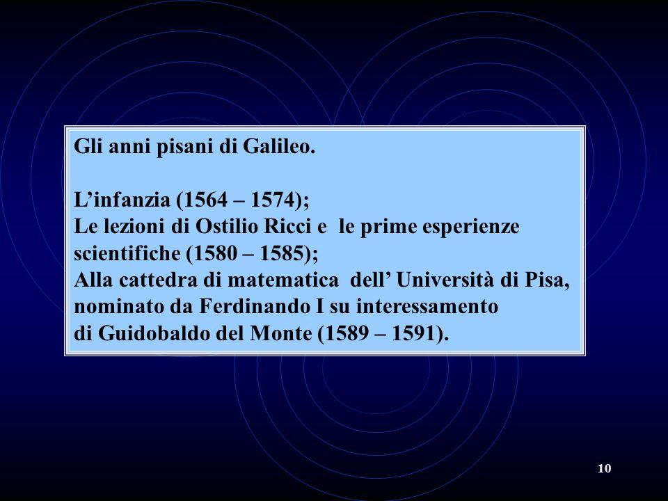 Gli anni pisani di Galileo.
