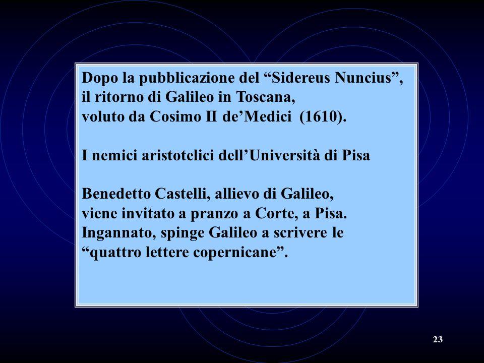 Dopo la pubblicazione del Sidereus Nuncius ,