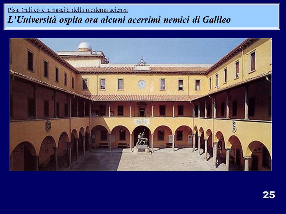 L'Università ospita ora alcuni acerrimi nemici di Galileo