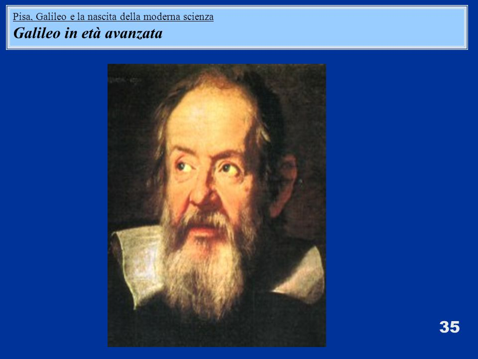 Galileo in età avanzata
