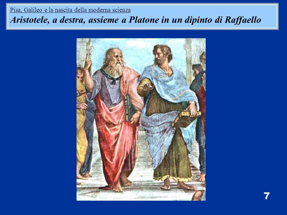 Aristotele, a destra, assieme a Platone in un dipinto di Raffaello