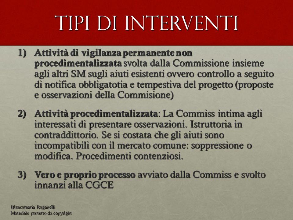 Tipi di interventi