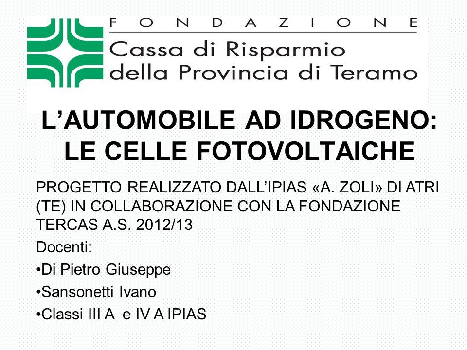 L'AUTOMOBILE AD IDROGENO: LE CELLE FOTOVOLTAICHE