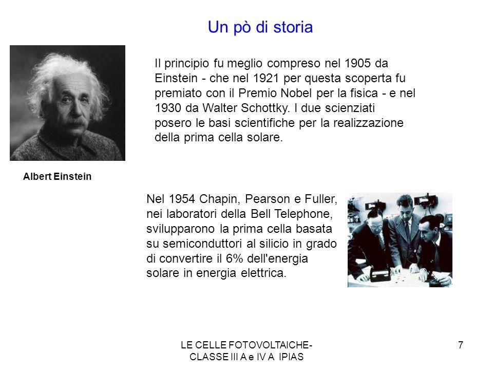 LE CELLE FOTOVOLTAICHE-CLASSE III A e IV A IPIAS