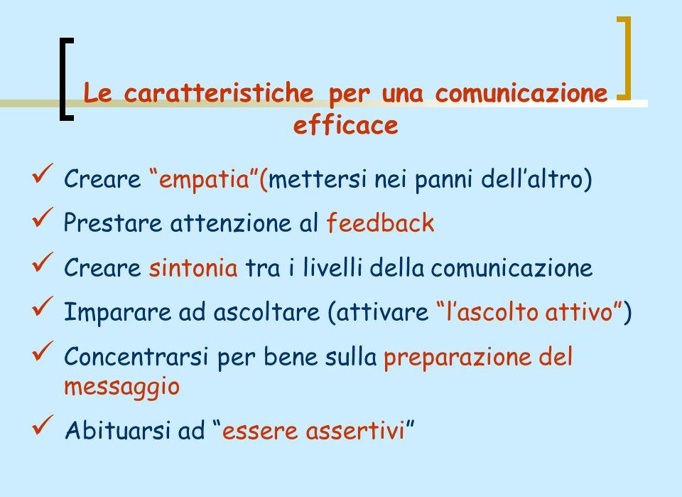 Le caratteristiche per una comunicazione efficace